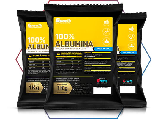 APROVEITE AS VANTAGENS DA ALBUMINA NA GROWTH SUPPLEMENTS