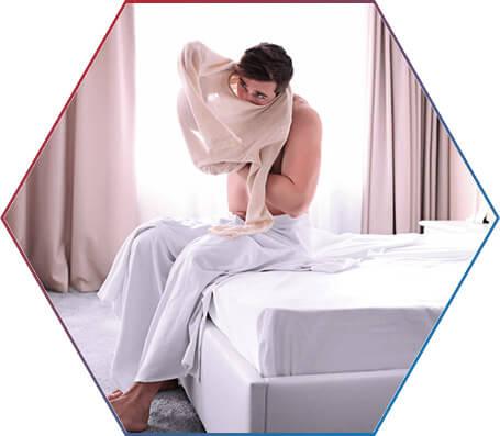 Qual a situação do corpo ao acordar?