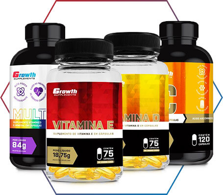 Vitaminas para a sua dieta é aqui, na Growth Supplements