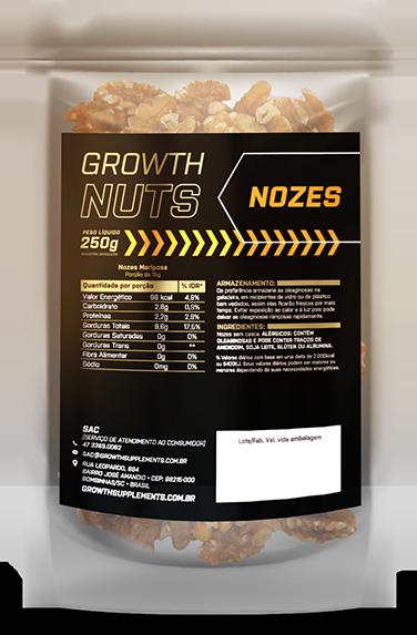Nozes Mariposa 250gr - Growth Supplements