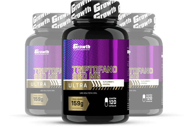 Triptofano Ultra - 120 comp - Growth Supplements