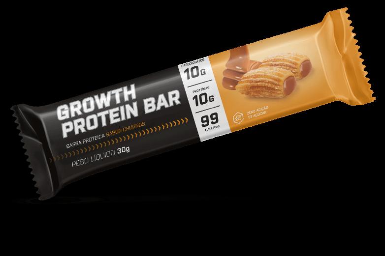 Barra de proteina sabor churros