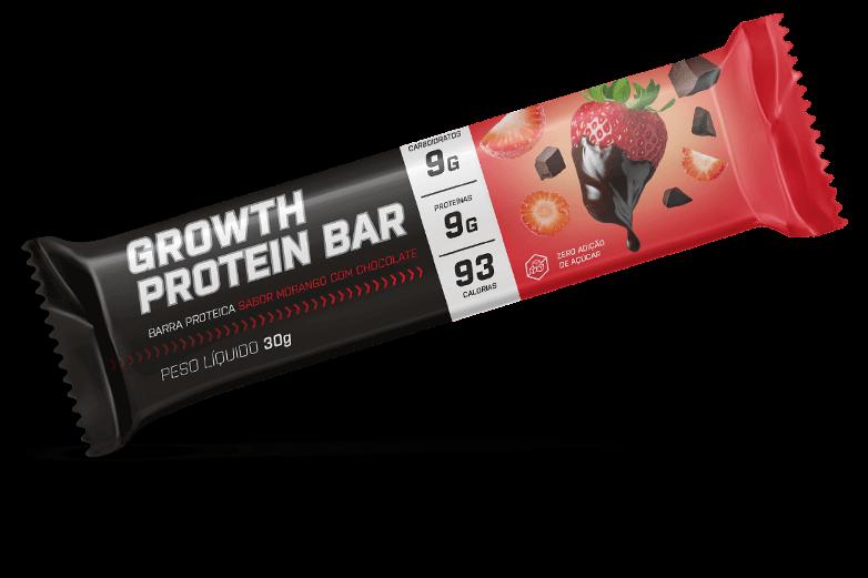 Barra de proteina sabor morango