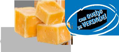 Com queijo de verdade