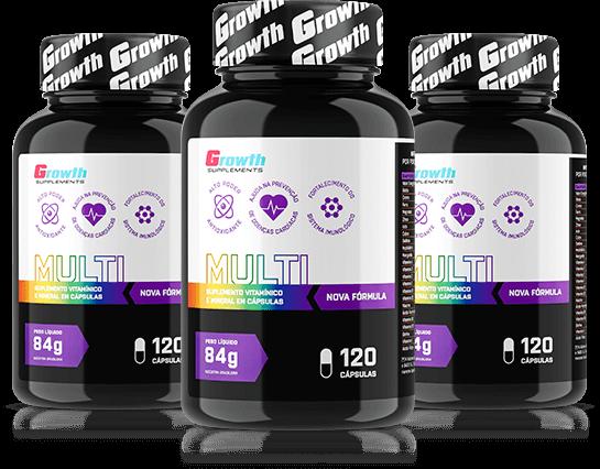 Multivitamínico (120 caps) (nova fórmula) - Growth Supplements