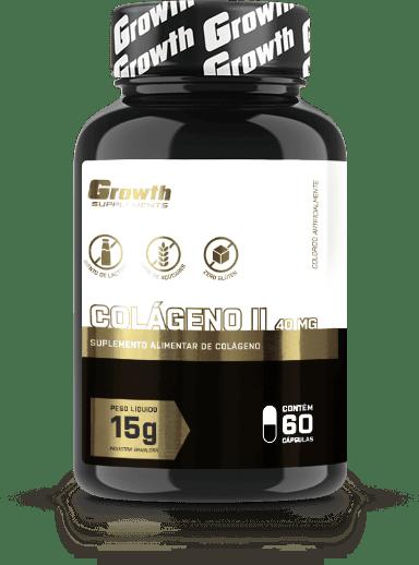 Colágeno Tipo 2 40mg - 60 cápsulas - Growth Supplements