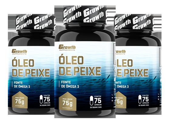 Óleo de Peixe - Ômega 3 (75 Softgel) - Growth Supplements