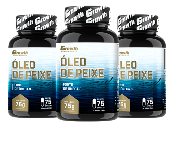 Óleo de Peixe - Ômega 3 (75 Softgel) - Growth Supplements