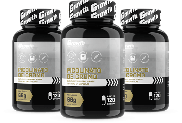 Picolinato de Cromo 120caps - Growth Supplements