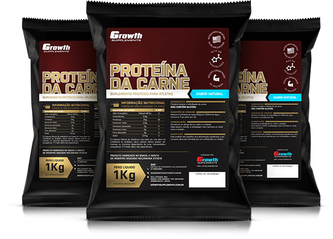Proteína da carne (1kg) (sabor natural) - Growth Supplements