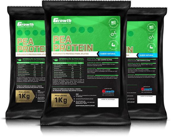 Proteína da Ervilha - Pea Protein (1kg) - Growth Supplements