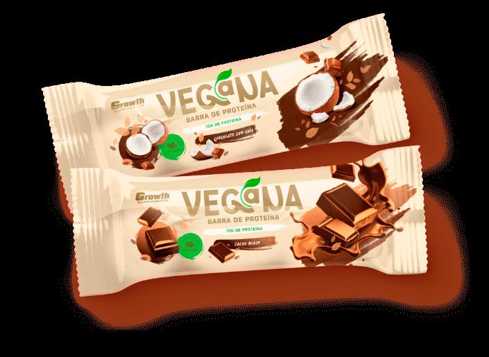 Barra de Proteína Vegana - Growth Supplements barrinha de proteína