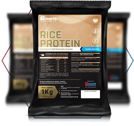 Proteína do arroz: qualidade é na Growth Supplements