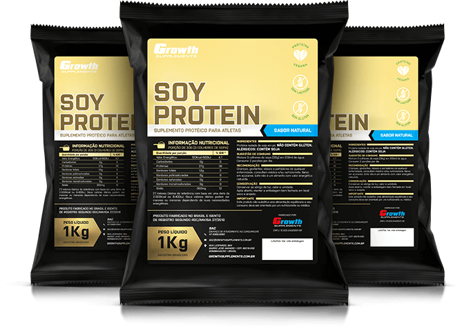 Soy Protein (Proteína isolada de soja) (1kg) (sabor natural) - Growth Supplements