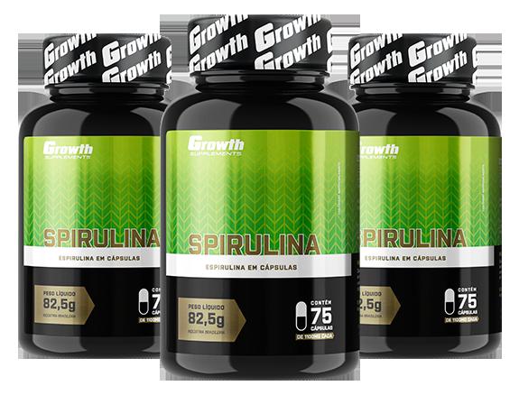 Spirulina (75 cápsulas) - Growth Supplements