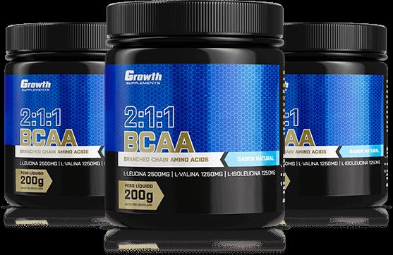 BCAA (2:1:1) (200g) (em pó) - Growth Supplements