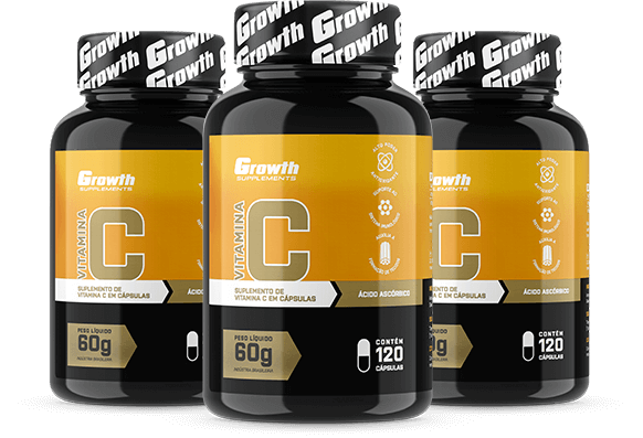Vitamina C (120 caps) - Growth Supplements