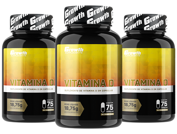 Vitamina D (75 cápsulas) - Growth Supplements