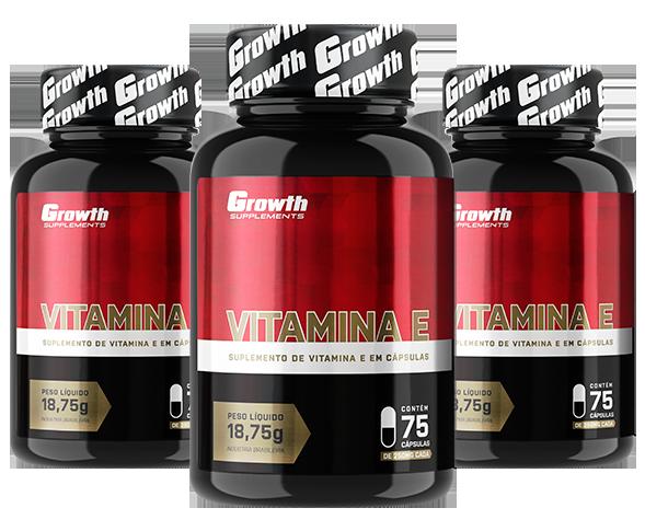 Vitamina E (75caps) - Growth Supplements