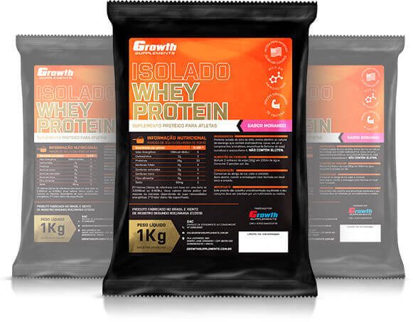 (TOP) Whey Protein Isolado (1KG) - Growth Supplements