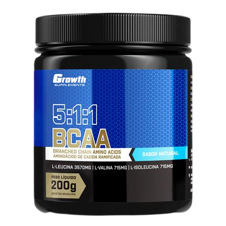 BCAA (5:1:1) (200g) (em pó) - Growth Supplements