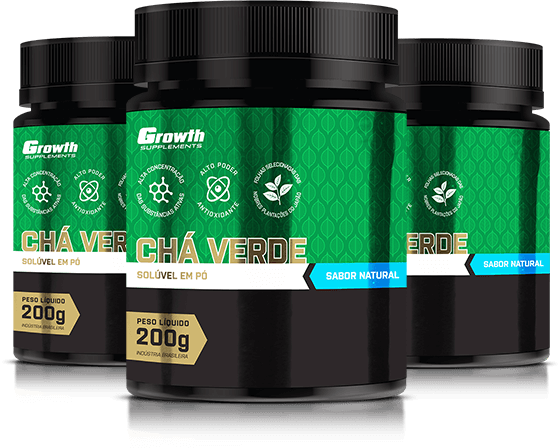 Chá verde 200g instantâneo (sabor natural) - Growth Supplements