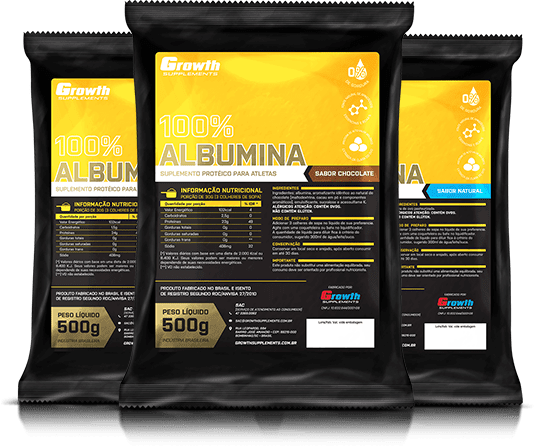 Albumina 500gr - Growth Supplements
