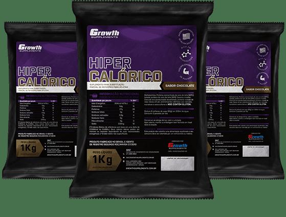 (TOP) Hipercalórico (sabor chocolate) (1KG) - Growth Supplements