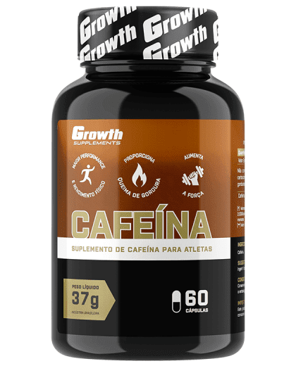 Cafeína (420MG) 60 caps - Growth Supplements (thermogênico)