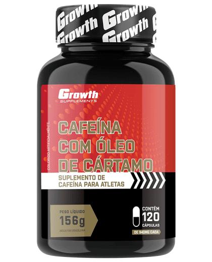Cafeína com Óleo de Cártamo 120 caps - Growth Supplements