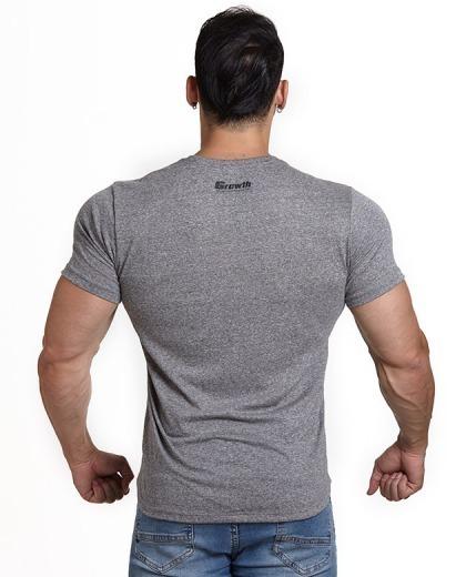 Camiseta básica G peito - Cor Cinza - Growth Supplements