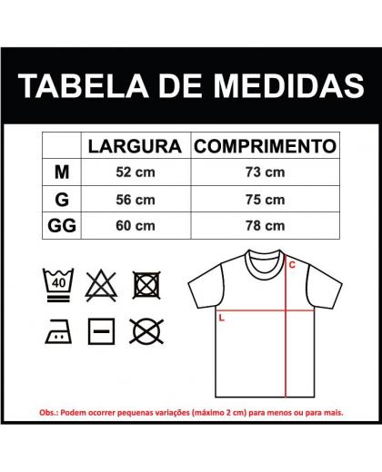 Camiseta básica G peito - cor Preta
