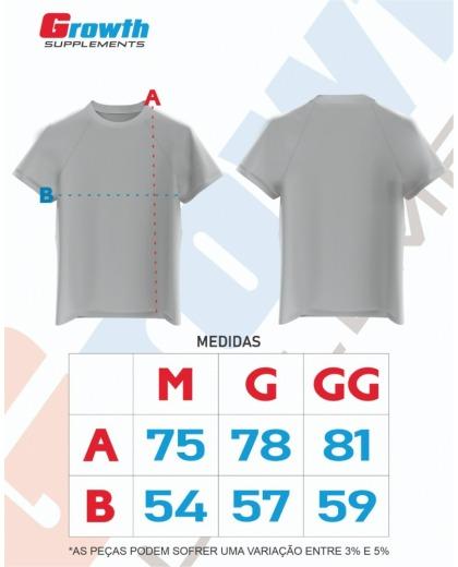 Camiseta Dry-Fit Preta ESMAGA - GROWTH SUPPLEMENTS