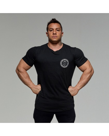 Camiseta Preta Selo Peito - Growth Supplements