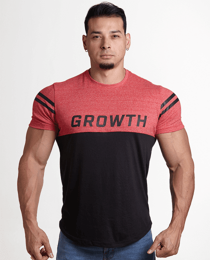 Camiseta Vermelha e Preta - Growth Supplements