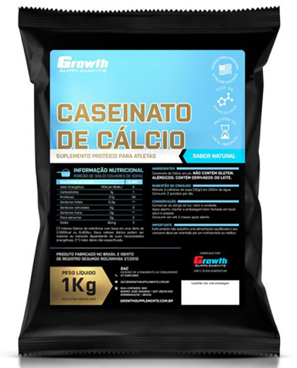 Caseinato de Cálcio 1kg - Growth Supplements