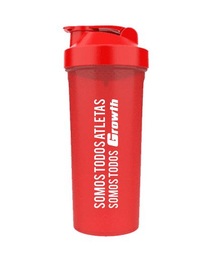 Coqueteleira Simples Vermelha 600ml - Growth Supplements