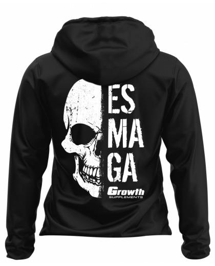JAQUETA PRETA CORTA VENTO ESMAGA  - GROWTH SUPPLEMENTS