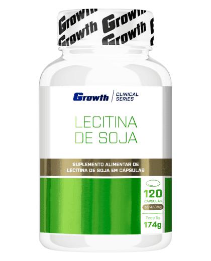 Lecitina de soja 120 cápsulas - Growth Supplements