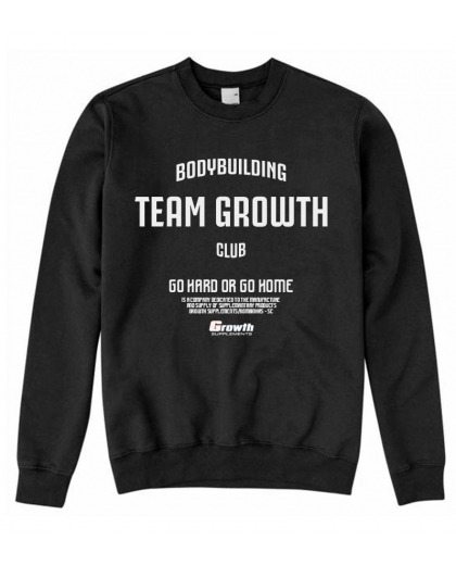 MOLETOM PRETO TEAM GROWTH - GROWTH SUPPLEMENTS