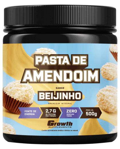 Pasta de Amendoim Sabor Beijinho 500g - Growth Supplements