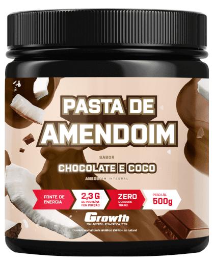 Pasta de Amendoim Sabor Chocolate e Coco 500g - Growth Supplements