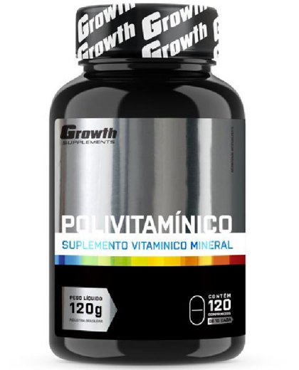 Polivitaminico mastigavel 120 comp - Growth Supplements