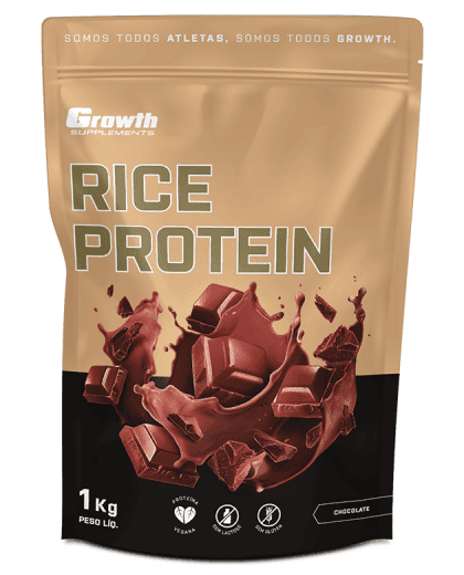 Rice Protein (1kg) (sabor chocolate) - Growth Supplements