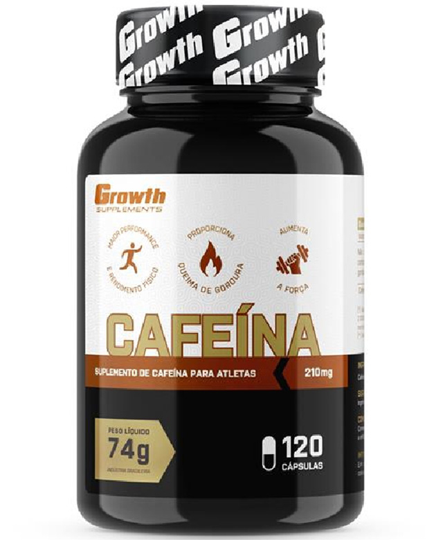 Cafeína (210MG) 120 caps - Growth Supplements (thermogênico)