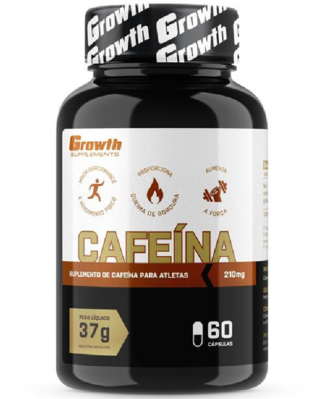 Cafeína (210MG) 60 caps - Growth Supplements (thermogênico)