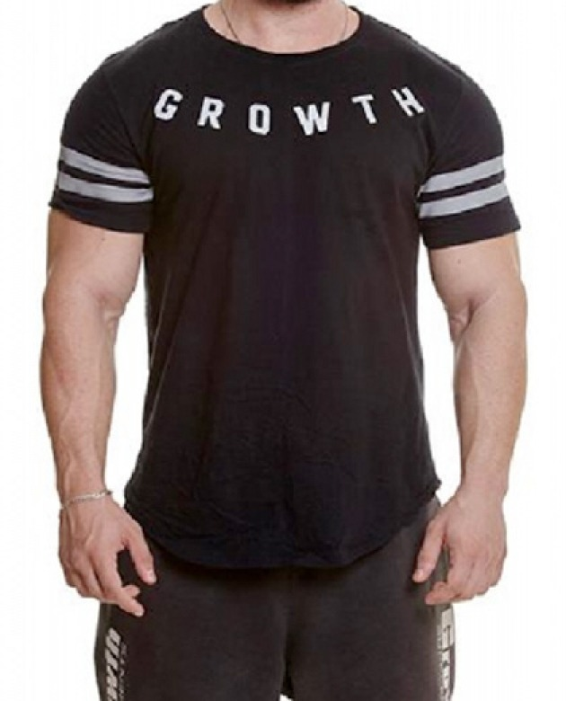 Camiseta Preta Growth Refletivo - Growth Supplements