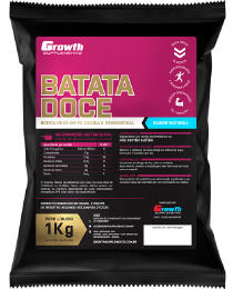 Suplemento 100% Batata Doce em pó (sabor natural) (1kg) - Growth Supplements