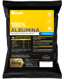 Suplemento Albumina 500gr - Growth Supplements