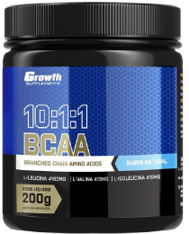 Suplemento BCAA (10:1:1) (200g) (em pó) - Growth Supplements